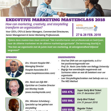 Marketing Masterclass 2018
