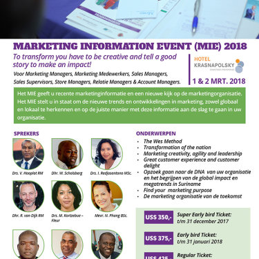Marketing Information Event 2018