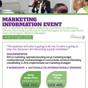 Marketing Information Event