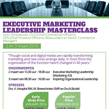 Executive marketing Leadership Masterclass